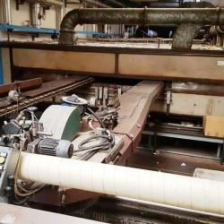 Reggiani stenter,  working width 3300mm, -8 chambers, diathermic oil heated. -Kusters padder, plus impregnating tank.