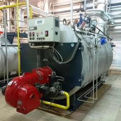 steam boiler LOOS y.o.c. 2000 capacity 3200 kg steam/h, 10 bar,
