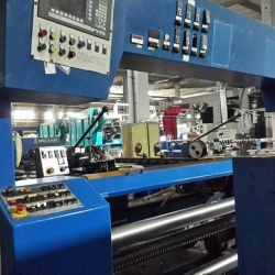 Bruckner Brand Stenter 2.30mt ww. 1998 model, 4 chambers, vertical chain with pins,gas