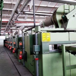 BRUECKNER STENTER, 1998,SUITABLE FOR KNITTED AND WOVEN FABRIC, 8 Cham., oil