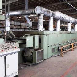 MONFORTS Stenter yoc 1993 with gas horizontal kombi chain, 8 chamber, ww 200cm