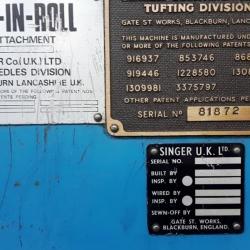 Singer Tufting machine loop Multiroll