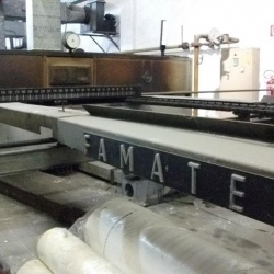 Famatex stenter frame - Working width 3200 mm - Gas heated - 5 chambers.