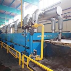 MONFORTS Stenterframe Year. 1997 6 fields gas heating Working width 2200mm