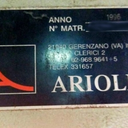 Arioli Steamer ww 2.60m yoc 1996 150 mt fabric capacity
