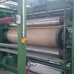 3 rollers calender, brand: Ramisch, type: RK 360-H, working width 2000 mm, rolls width 2200 mm,