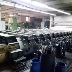 REGGIANI PRINTING MACHINE FUTURA 12 COLORS, WORKING WIDTH 3200 MM YOC 1989