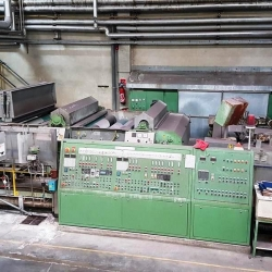 MERCERIZING MACHINE BENNINGER, year 1990, w.w. 1800 mm, 2 x chainless caustic sosa impregnation box