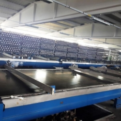 2 x BUSER Flat printing machine yoc 1995 1 x ww 220cm and 12 colors 1 x ww 240 cm and 10 col