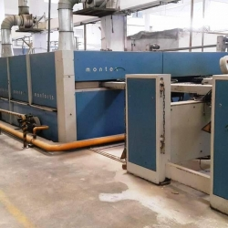Monforts Montex Stenter  w.w 3200 mm, Year 2006, 8 chamber, gas heated