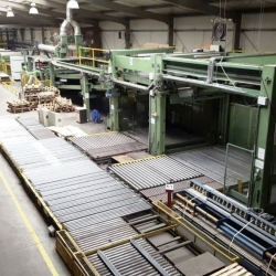 Used production line for cardboard, brand:  PETERS w.w. 2500 mm