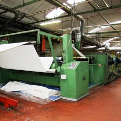 stenter machine, 8 chambers, gas heated - Manufacturer: Santa Lucia - Useful working width: 3.200 mm.