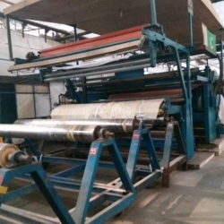 Ramisch Nipco-L Calender w.w 3200 mm, Year 2000, 3 Rolls Nipco-L Type ( Cotton + Racolan + Oil Heated )