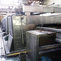 stenter, brand: SANTA LUCIA working width 220 cm, y.o.c. 2000 cylinder width 240 cm 8-chamber, gas heating stenter frame